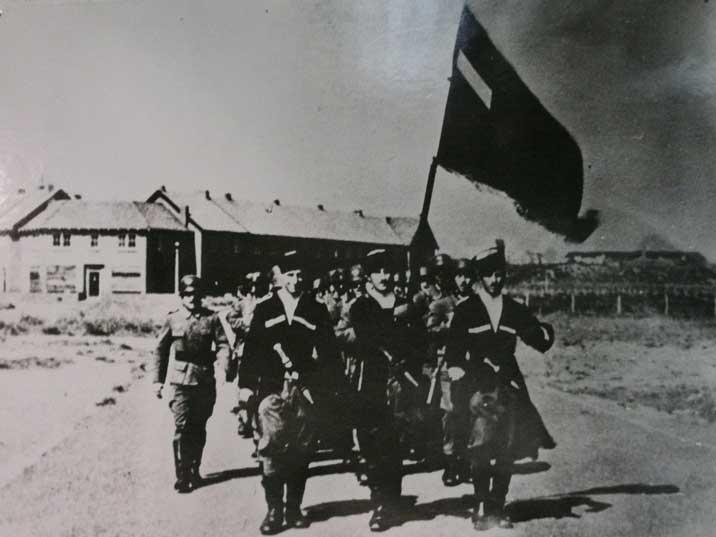 Tropas de la Legión Georgiana en Holanda.