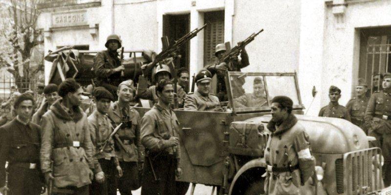 Voluntarios árabes de la Legión Norteafricana en Francia.