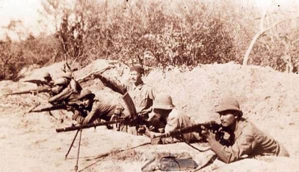 Soldados paraguayos en la Batalla de Boquerón.