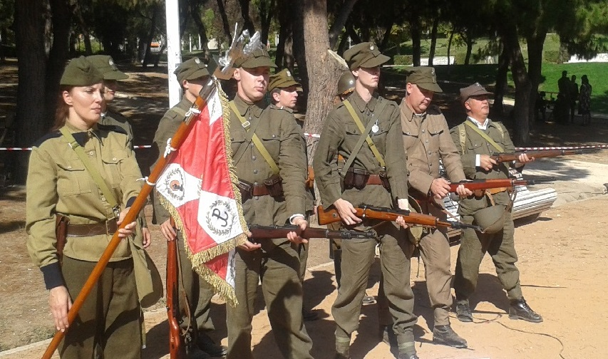 Soldados del Ejército Polaco de 1939 en La Vaguada de Madrid.