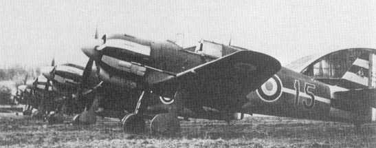 Escuadrón de cazas Bloch MB.150 en Francia.