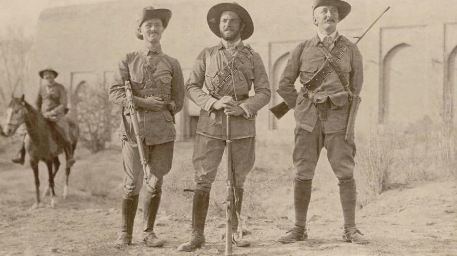 Von Niedermayer (centro) durante la Primera Guerra Mundial.