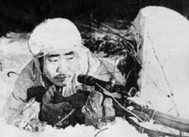 Francotirador Fyodor Okhlopov.
