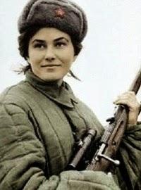 Francotiradora Lyudmila Pavlichenko.