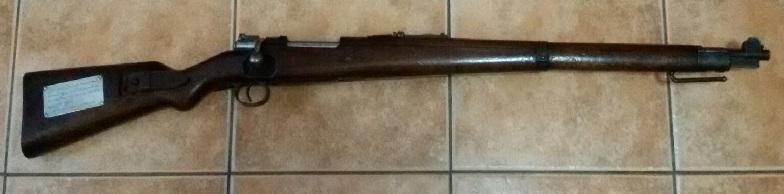 """Fusil """"Mauser"""" capturado por los australianos en la Batalla de Bita Paka (Rabaul, Nueva Guinea) en 1914 y que después de un siglo acabó en España."""